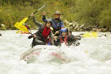 Rafting a Soca folyón