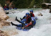 Tubing a Soca folyón